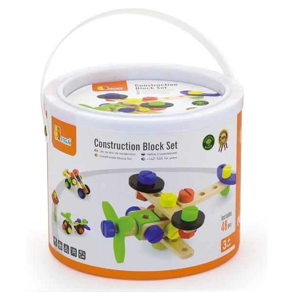 Набор строительных блоков Viga Toys 48 деталей (50383)