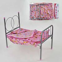 Кроватка для кукол FL-981 с постельным бельем Розовая (2-981-63899)