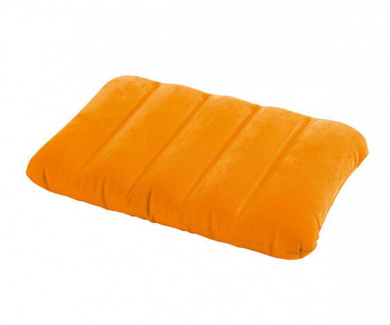 Подушка надувная Intex 68676 43х28х9 см Желтая, фото 2