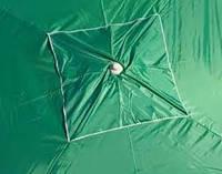 Зонт прямоугольный 2х3 м с клапаном. Серебренное покрытие. Цвет: Зеленый