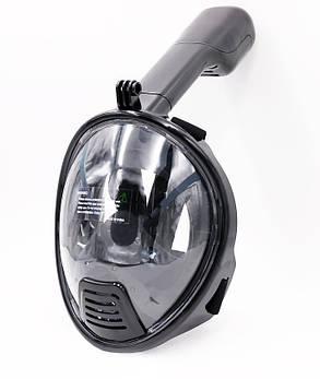 Дитяча маска для сноркелінгу TheNice K-1 EasyBreath-III на все обличчя XS Чорний (SUN3738), фото 2