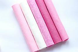 Набір американського фетру Pugovichok Рожевий мікс 5 кольорів (SUN3940)