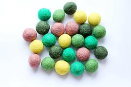 Набір шерстяних кульок Pugovichok Лісовий 25 шт (SUN3943)