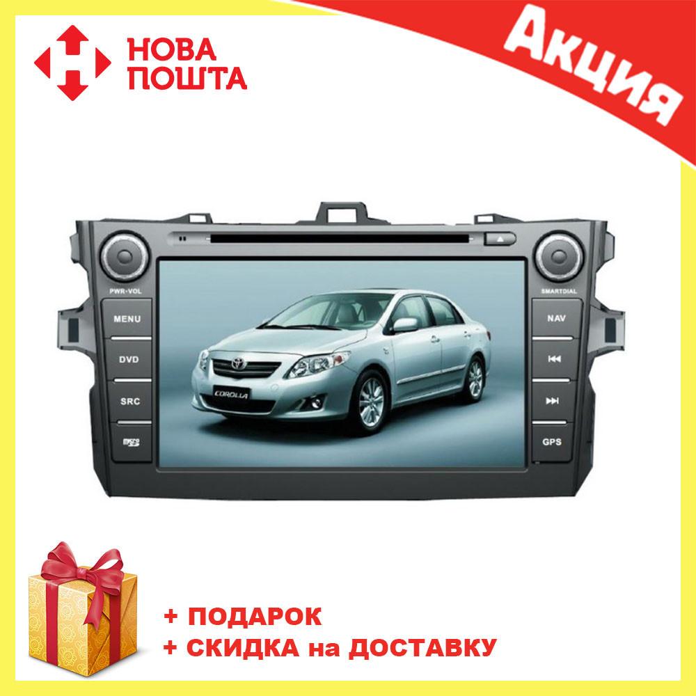 Штатная автомагнитола с GPS навигацией для автомобилей Toyota Corolla 2008-2011