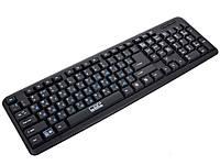 USB проводная компьютерная клавиатура CBR KB 107 | черная клавиатура для ПК, фото 1