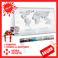 Скретч Карта Мира Travel Map ® AIR World   карта путешествий   карта желаний   оригинальный подарок, фото 1