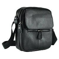 Мужская кожаная сумка черного цвета Borsa Leather 101106-black