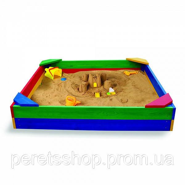 Детская песочница 100*100см +Подарок Набор для песка Замок ЦЕНА 1050ГРН