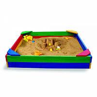 Детская песочница 100*100см +Подарок Набор для песка Замок