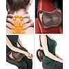 Массажная подушка Massage Pillow 8028 для головы и шеи Массажер Подушка для Массажа в авто Роликовый массажер, фото 3