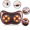 Массажная подушка Massage Pillow 8028 для головы и шеи Массажер Подушка для Массажа в авто Роликовый массажер, фото 6