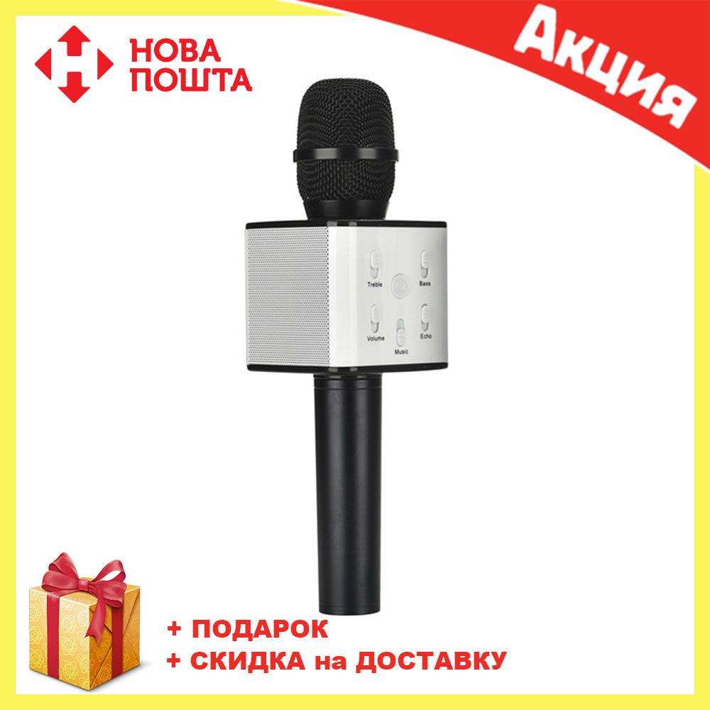 Беспроводной микрофон-караоке Q7 MS (Черный)