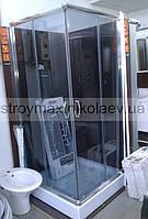 Душ.кабина SANTEH 8814G КВАДРАТ (80*80*195) поддон 15см хром/серое