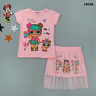 Летний костюм LOL для девочки. 1-2 года