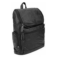 Мужской кожаный рюкзак Borsa Leather 1t1017m-black