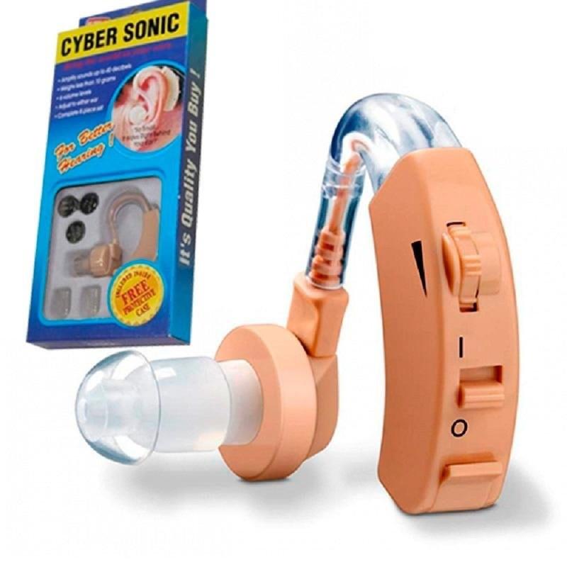 Слуховой аппарат CyberSonic усилитель слуха + 3 батарейки (ip23)