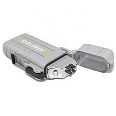 Вологозахищена електроімпульсна запальничка SUNROZ DK-8039 Explorer USB Срібний (SUN3814), фото 2