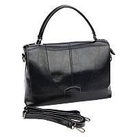 Женская кожаная сумка Borsa Leather 10t114-black