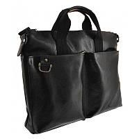 Мужской кожаный портфель Borsa Leather 104155-black
