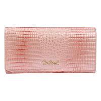 Женский кожаный кошелек Borsa Leather cdl1l003-pink