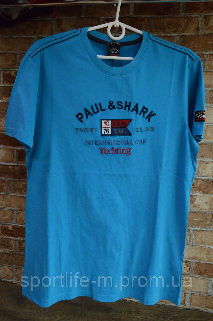 5010-Мужская футболка Paul Shark/синяя