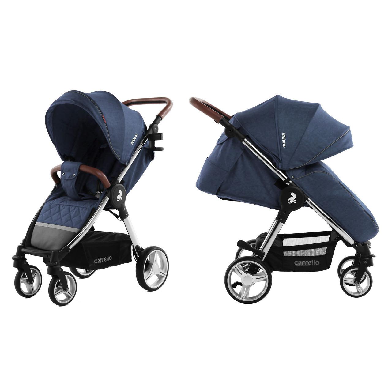 Коляска прогулочная CARRELLO Milano CRL-5501, Синий, +дождевик