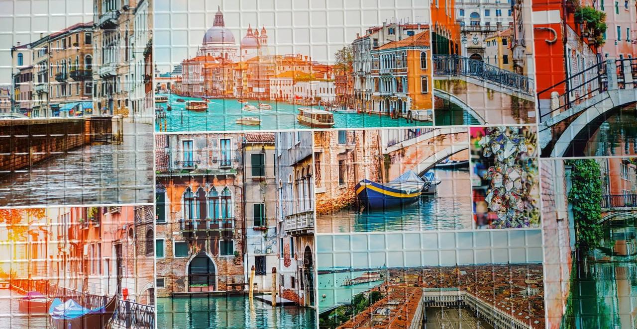 Пластикова листова стінова панель ПВХ Регул Венеціанський живопис 0,3мм 955*488 мм