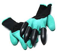 Перчатки с когтями для огорода резиновые Garden Genie Gloves