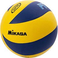 Мяч волейбольный Mikasa MVA200 бесшовный желто синий размер 5