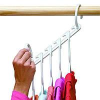 Вешалка-органайзер для одежды Wonder Hanger ( Чудо-вешалка ), цвет белый