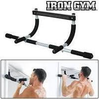 Турник в дверной проем Iron Gym без сверления, цвет серый