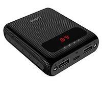 Портативное зарядное устройство HOCO B20 MIGE с LED экраном 10000 mah SLIM , Power Bank 10000 mah ОРИГИНАЛ