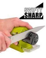 Мощная электрическая Ножеточка Swifty Sharp, электрическая точилка для ножей и ножниц на батарейках