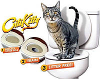 Тренировочный набор для приучения кошек к туалету CitiKitty Cat Toilet Training Kit, туалет для котов