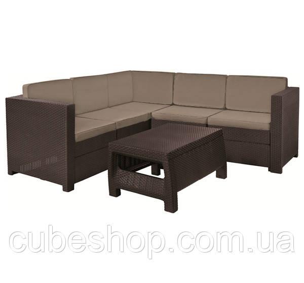 Комплект садовой мебели из искусственного ротанга Keter Provence Set (коричневый)