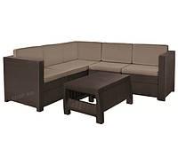Комплект садовой мебели из искусственного ротанга Keter Provence Set (коричневый), фото 1