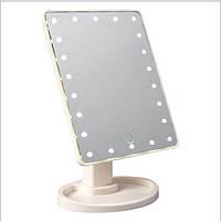 Зеркало с LED подсветкой Large LED Mirror, зеркало для маникюра, Настольное зеркало с подсветкой Makeup Mirror, фото 1