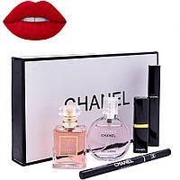 Подарочный набор парфюмерии Chanel Present 5 в 1, набор CHANEL, косметический набор, набор помад, фото 1