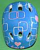 Шлем лдля роликів, скейтборда дитячий MS 0014 голубий з квадратами, фото 3