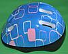 Шлем лдля роликів, скейтборда дитячий MS 0014 голубий з квадратами, фото 2