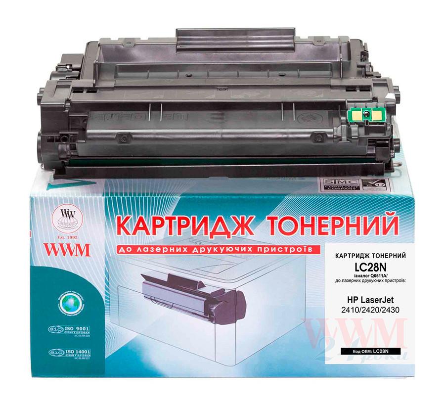 Картридж HP 11A (Q6511A), Black, HP LJ 2410/2420/2430, ресурс 6000 листов, WWM (LC28N)