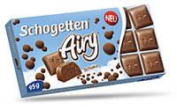 Молочный шоколад Schogetten Airy Choco | пористой 95 г