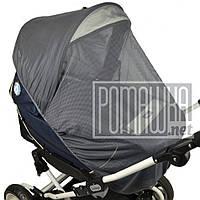 Антимоскитная сетка большая 120х60 универсальная на детскую коляску люльку прогулку всех типов 3966 Серый