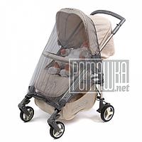 Серая универсальная москитная сетка большая 120х60 на детскую коляску люльку прогулку всех типов 3966 Серый
