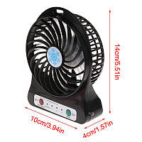 Мини-вентилятор Portable Fan Mini USB на аккумуляторе Черный
