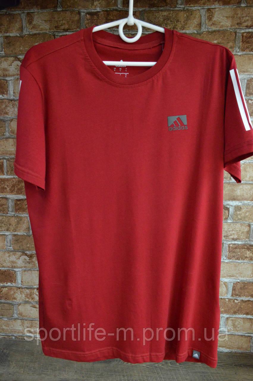 5014-Мужская футболка Adidas/ бордо
