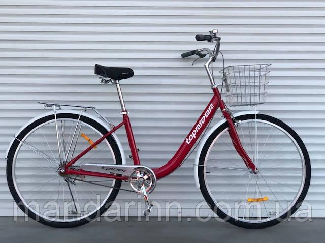 Прогулочный велосипед Топрайдер-810  26 дюймов. Дисковые тормоза. Красный.