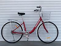 Прогулочный велосипед Топрайдер-810  26 дюймов. Дисковые тормоза. Красный., фото 1