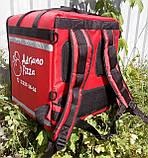 Каркасна термосумка - рюкзак для кур'єрської доставки страв та піци. 40*40, висота 46, фото 2