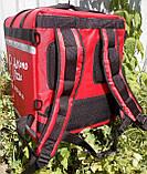 Каркасна термосумка - рюкзак для кур'єрської доставки страв та піци. 40*40, висота 46, фото 3